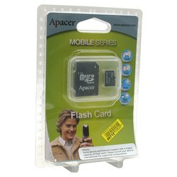 apacer microsd + sd adapter 2gb