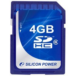 silicon power sdhc card 4gb class 6