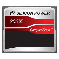 silicon power 200x professional compact flash card 8gb (sp008gbcfc200v10)
