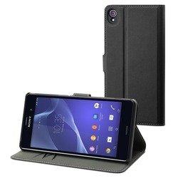 Чехол-книжка для Sony Xperia Z3 (Muvit Wallet Folio Case SEWAL0003) (черный)