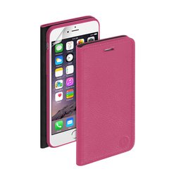 Чехол-книжка для Apple iPhone 6, 6s + защитная пленка (Deppa Wallet Cover 84065) (розовый)