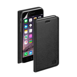 чехол-книжка для apple iphone 6 plus, 6s plus + защитная пленка (deppa wallet cover pu 84072) (черный)