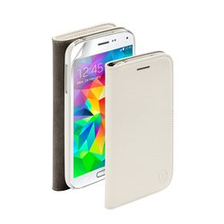 чехол-книжка для samsung galaxy s5 mini (deppa wallet cover 84056) (белый) + защитная пленка