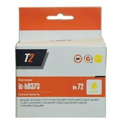 Картридж для HP DesignJet T1100, T1120, T1120 HD, T1120 SD, T1200 (T2 IC-H9373 №72) (желтый)