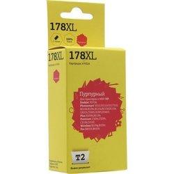 Картридж для HP Deskjet 3070A, Photosmart 5510, 5515, 6510, 7510, B010b, B100e, B109c, B110a, B110d, C6383, C8383, C8553, D5463, Plus B209b, B210b, Premium C309c, C309h, C310b, Pro B8553, B8558, Wireless B109g (T2 IC-H324 №178XL) (пурпурный, с чипом)
