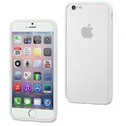 Чехол бампер для Apple iPhone 6, 6s (Muvit Ibelt Bumper MUBKC0808) (белый)