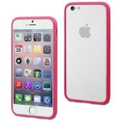 Чехол бампер для Apple iPhone 6, 6s (Muvit Ibelt Bumper MUBKC0816) (розовый)