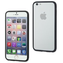 Чехол бампер для Apple iPhone 6, 6s (Muvit Ibelt Bumper MUBKC0800) (черный)