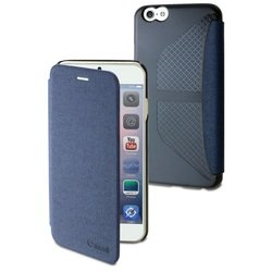 чехол-книжка для apple iphone 6 plus (muvit easy folio case mueaf0133) (синий)