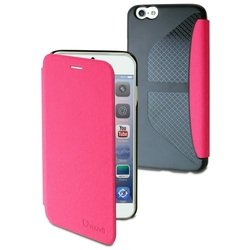 чехол-книжка для apple iphone 6 (muvit easy folio case mueaf0127) (розовый)