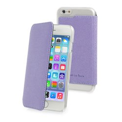 чехол-книжка для apple iphone 6 (muvit made in paris crystal folio case mucrf0018) (фиолетовый)