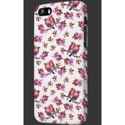 "Чехол-накладка для Apple iPhone 6, 6s 4.7"" (OXO Floral Cover Case Bird XCOIP64FBIPK6) (розовый)"