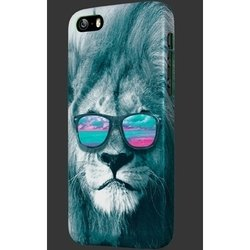 чехол-накладка для apple iphone 5, 5s, se (oxo wild pride cover case xcoip5swpali6) (лев)