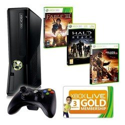 ������� ������� microsoft xbox360 250gb gow2+halo reach+fable3+3m live (r9g-00108)