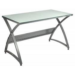 Стол для компьютера Бюрократ Omega-120 столешница:белый закаленное стекло 120x65x75см