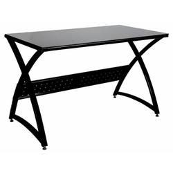 Стол для компьютера Бюрократ Omega-120, black столешница:черный закаленное стекло 120x65x75см