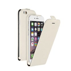 ��������� �����-���� ��� apple iphone 6 (deppa flip cover 81035) (�����) + �������� ������