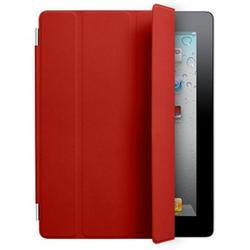 Кожаный чехол-книжка для Apple iPad 2 (Lether Smart Cover) (красный)