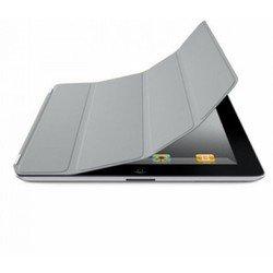 Кожаный чехол-книжка для Apple iPad 2 (Lether Smart Cover) (серый)