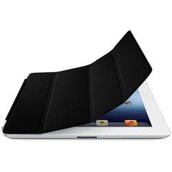 Кожаный чехол-книжка для Apple iPad 2 (Lether Smart Cover) (черный)