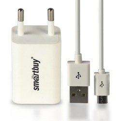 Сетевое зарядное устройство SmartBuy TRAVELER Combo + дата-кабель (SBP-3050) (белый)