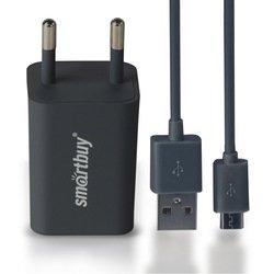 Сетевое зарядное устройство SmartBuy TRAVELER Combo + дата-кабель (SBP-2950) (серый)