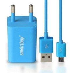 Сетевое зарядное устройство SmartBuy TRAVELER Combo + дата-кабель (SBP-3150) (синий)