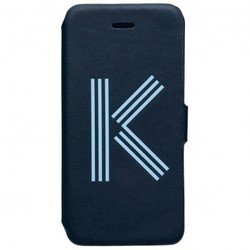 чехол-книжка для apple iphone 5c kenzo folio logo case k (синий)