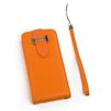 Чехол-флип для Apple iPhone 4, 4S (SM000662) (оранжевый) - Чехол для телефонаЧехлы для мобильных телефонов<br>Чехол защищает Ваше устройство от грязи, пыли, брызг и других нежелательных внешних повреждений.<br>
