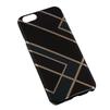 Чехол-накладка для Apple iPhone 6, 6s 4.7 (Macuus R0006112 Полоски) (черный, синий) - Чехол для телефонаЧехлы для мобильных телефонов<br>Чехол защищает Ваше устройство от грязи, пыли, брызг и других нежелательных внешних повреждений.<br>
