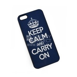 �����-�������� ��� apple iphone 5, 5s, se (keep calm and carry on) (�����)