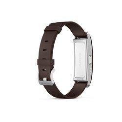 Браслет Sony SmartBand SWR10 (коричневый кожаный ремешок)