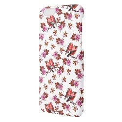 чехол-накладка для apple iphone 5, 5s, se (oxo floral flap case bird xcoip5sfbipk6) (розовый)
