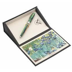 Ручка эко-роллер Visconti Van Gogh 2014 IRISES (78549) зеленый, голубой 0.7мм (упак.:1шт) сталь