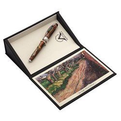 Ручка перьевая Visconti Van Gogh 2014 Pollard Willows (78345A10MP) коричневый (M) смола (упак.:1шт) перо сталь сталь