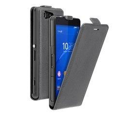 Чехол для Sony Xperia Z3 Compact (Flip Cover Deppa 81046) (серый) + защитная пленка