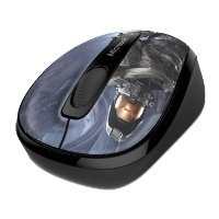 microsoft wireless mobile mouse 3500 halo limited edition: the master chief black usb