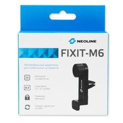 """Универсальный автомобильный держатель для смартфонов 3.5-6.3""""  (Neoline Fixit M6) (черный)"""