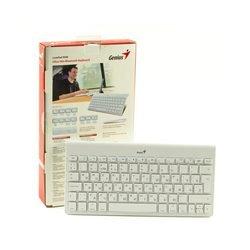 Русская беспроводная bluetooth-клавиатура для iPad, iPhone на iOS, Samsung и планшетов на Android Genius LuxePad 9000 White Bluetooth RUS (белая)