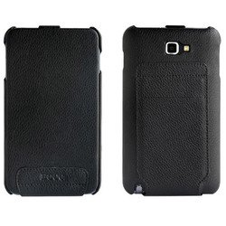 чехол для samsung galaxy note n7000 hoco case leather (черный)