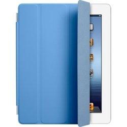 Чехол для iPad 2 / iPad 3 new / iPad 4 Smart Cover - Polyurethane (MD310ZM/A) (полиуретановый, голубой)