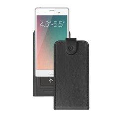 """Универсальный чехол-флип для смартфонов 4.3-5.5"""" (Deppa Flip Slide M 81048) (черный)"""