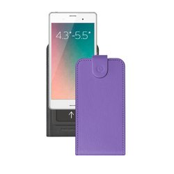 """Универсальный чехол-флип для смартфонов 4.3-5.5"""" (Deppa Flip Slide M 81051) (фиолетовый)"""