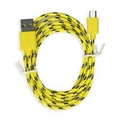 Дата-кабель USB - microUSB (Smartbuy iK-12n) (желтый)