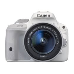 Canon EOS 100D Kit (18Mpix 18-55IS STM 3 1080p SDHC TouLCD, набор с объективом LP-E12) (9124B001) (белый)