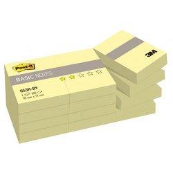 Блокнот 3M 653R-BY Post-it Basic канареечный желтый 38х51мм 12блх100л (7100033526)