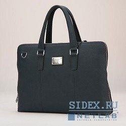 """Кожаная сумка для ноутбука до 15.6"""" (Continent CL-105) (синий)"""