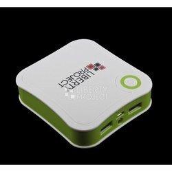 Универсальный внешний аккумулятор 7800 мАч (R0007772) (белый с зеленым)