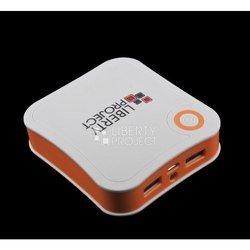 Универсальный внешний аккумулятор 7800 мАч (R0007768) (белый с оранжевым)