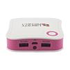 Универсальный внешний аккумулятор 7800 мАч (R0007771) (белый с розовым) - Внешний аккумуляторУниверсальные внешние аккумуляторы<br>Универсальный внешний аккумулятор 7800 мАч, 2 USB выхода 1А + 2,1А<br>